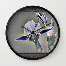 Miniature Tall Bearded Iris named Consummation Wall Clock