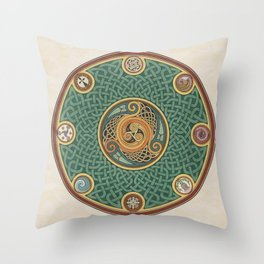 Celtic Knotwork Shield Throw Pillow