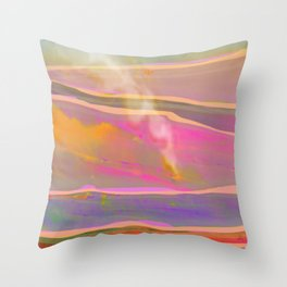 Adventure in the Volcanic Lands - Fumarole Throw Pillow