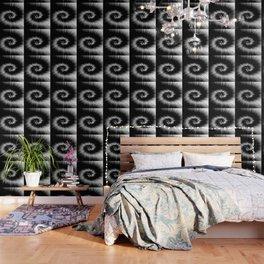 TIE DYE #1 (Black & White) Wallpaper