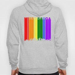 Mississauga Ontario Gay Pride Rainbow Skyline Hoody