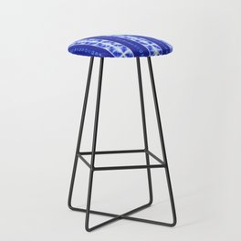 Shibori strips Bar Stool