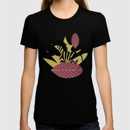 Zebra with leaves and dots T-shirt
