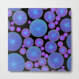 Circles Wheels and Disks with Spokes Metal Print