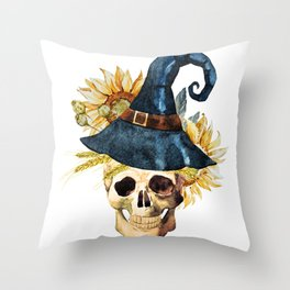 Skull 05 Throw Pillow