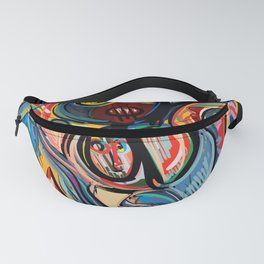 Yellow Life With Birds Street Art Fanny Pack