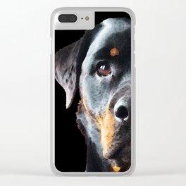 Rottie Love - Rottweiler Art By Sharon Cummings Clear iPhone Case
