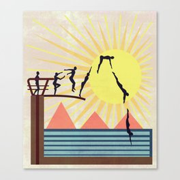 SUMMER POOL Canvas Print