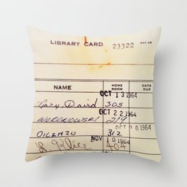 Library Card 23322 Throw Pillow