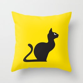 Angry Animals: Cat Throw Pillow