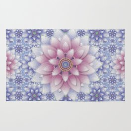 Embroidered Rose Quartz & Serenity Rug