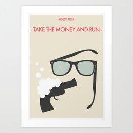 "Woody Allen ""Take the Money and Run"" M0vie Poster Art Print"