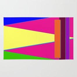 Bright Color Triangles, Pretty Colorful Colorblock Art, Graphic Art Rug