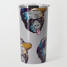 Gorillas Thinkers of the Urban Jungle Travel Mug