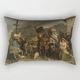 fire in the Sabine mountains Rectangular Pillow