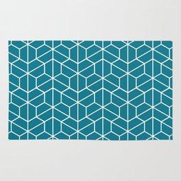 Blue hexagons Rug