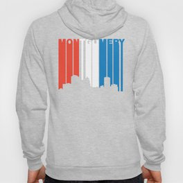 Red White And Blue Montgomery Alabama Skyline Hoody