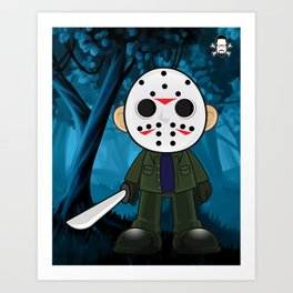 Lil Horror Classics Featuring Jason Vorhees from Friday the 13th Art Print