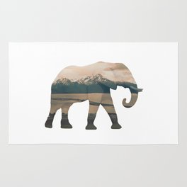 Elephant and the Homer Spit Rug