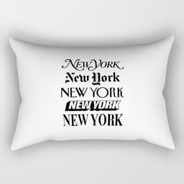 I Heart New York City Black and White New York Poster I Love NYC Design black-white home wall decor Rectangular Pillow