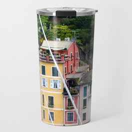 Portofino Harbour Italy Travel Mug