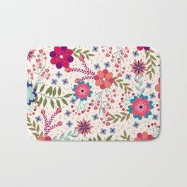 Beautiful Flower Pattern Art Bath Mat