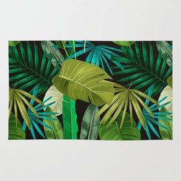 Tropical Leaf Pattern Rug
