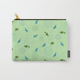 Green Orca and Dolphin Carry-All Pouch