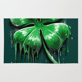Four Leaf Clover Melting Luck Rug