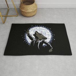 Howling at the Disco Moon Rug