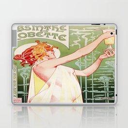Art Nouveau Absinthe Robette Ad Laptop & iPad Skin