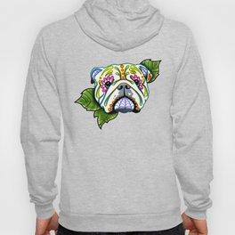 English Bulldog - Day of the Dead Sugar Skull Dog Hoody