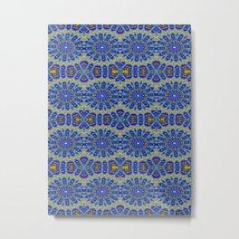Blue Arrow Kaleidoscope Metal Print