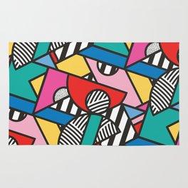 Colorful Memphis Modern Geometric Shapes Rug