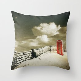 Winter in the Cotswolds, England Throw Pillow
