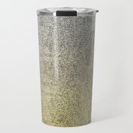 Silver and Gold Glitter Gradient Travel Mug