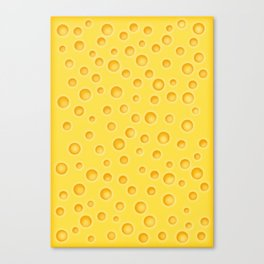 Swiss Cheese Texture Pattern Canvas Print