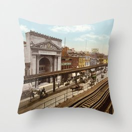 The Bowery Throw Pillow