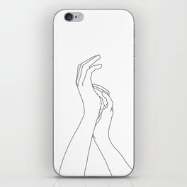 Hands line drawing illustration - Carly iPhone Skin