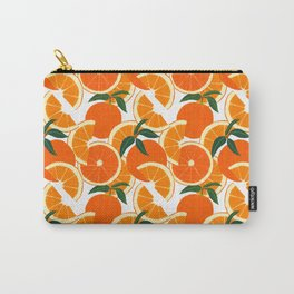 Orange Harvest - White Carry-All Pouch