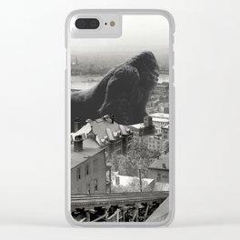 Cincinnati King Kong and Godzilla Rumble Clear iPhone Case