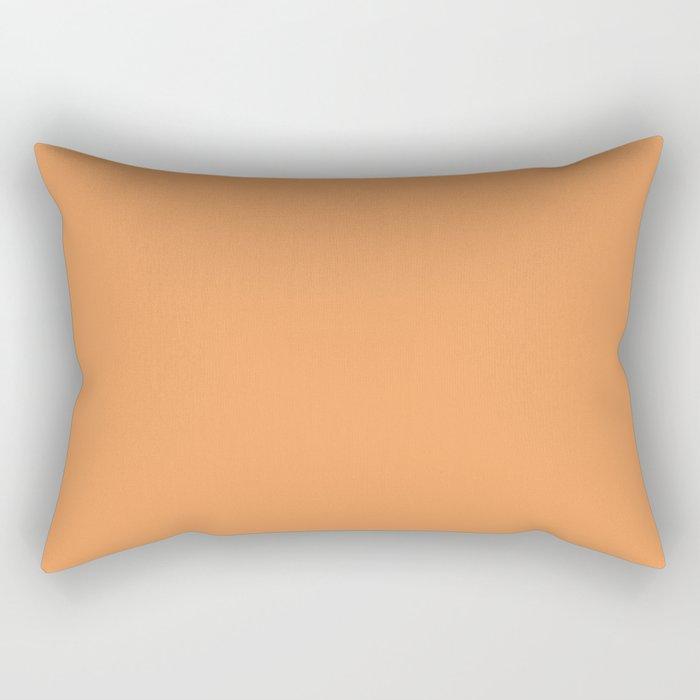 Asymmetrical Glow ~ Apricot Rectangular Pillow