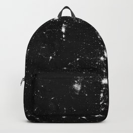 The Lights of the USA (Black and White) Backpack