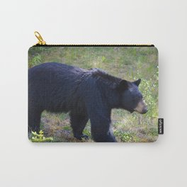 Black bear on the move in Jasper National Park | AB Carry-All Pouch