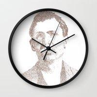 leon Wall Clocks featuring Leon Czolgosz by Neil Campau