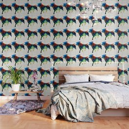 Bull Art Print – Love A Bull 2 – By Sharon Cummings Wallpaper