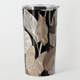 Lush lily - russet Travel Mug