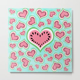 Watermelon Love... Metal Print