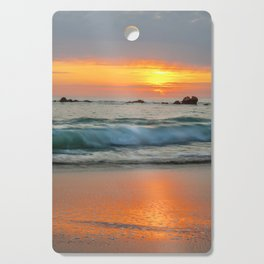 Golden sunset with turquoise waters Cutting Board