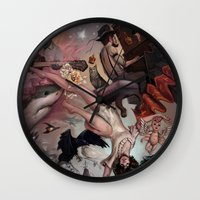 theater Wall Clocks featuring Theater of Lucid Dreaming by Rudy Faber